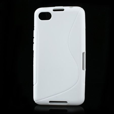 BlackBerry Z30/Aristo Elastisches Plastik Case S-Shape - weiss