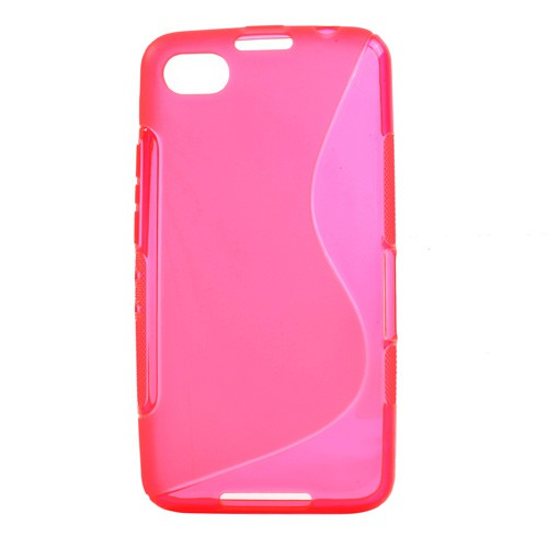 BlackBerry Z30/Aristo Elastisches Plastik Case S-Shape - rosa