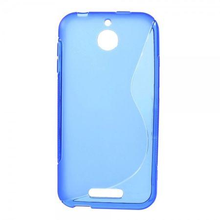 HTC Desire 510 Elastisches Plastik Case S-Shape - blau