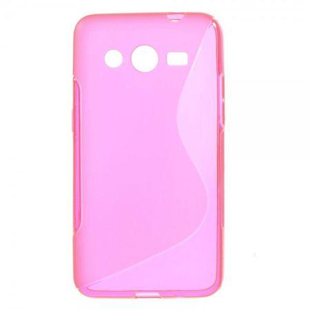 Samsung Galaxy Core 2 Elastisches Plastik Case S-Curve - rosa