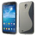 Samsung Galaxy Mega 6.3 Elastisches Plastik Case S-Curve - grau