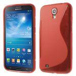 Samsung Galaxy Mega 6.3 Elastisches Plastik Case S-Curve - rot
