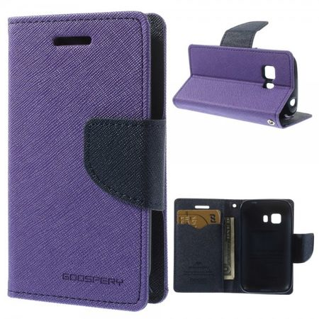 Goospery - Samsung Galaxy Young 2 Hülle - Handy Bookcover - Fancy Diary Series - purpur/navy