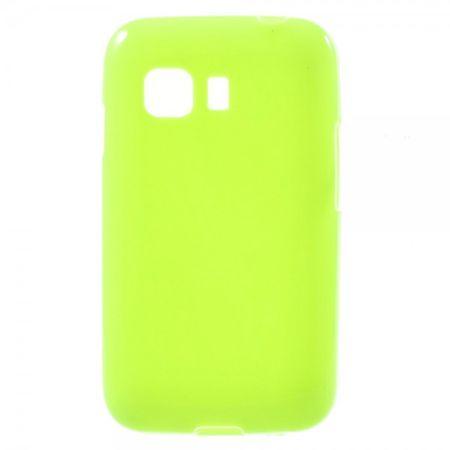 Samsung Galaxy Young 2 Elastisches, glänzendes Plastik Case - grün