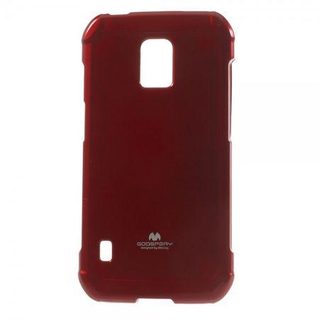 Samsung Galaxy S5 Active Elastisches, leicht glänzendes Mercury Plastik Case - rot