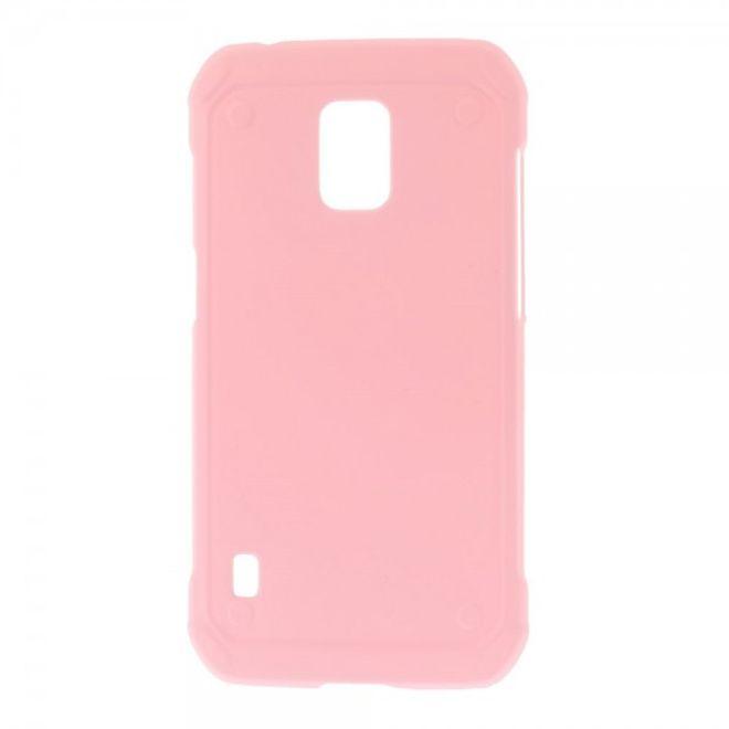 Samsung Galaxy S5 Active Gummiertes Plastik Case - pink