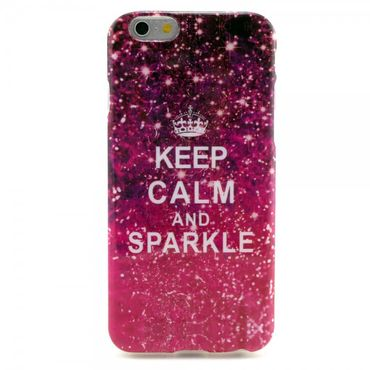 iPhone 6/6S Elastisches Plastik Case mit Spruch Keep Calm and Sparkle