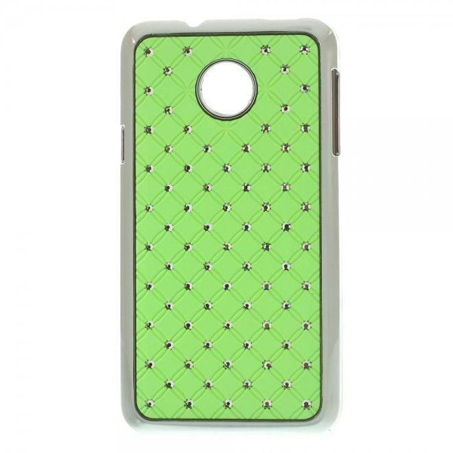Huawei Ascend Y330 Hart Plastik Case mit Glitzersteinen - grün