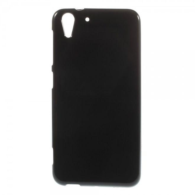 HTC Desire Eye Elastisches, leicht glänzendes Plastik Case - schwarz