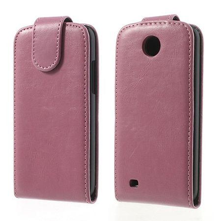 HTC Desire 300 Modisches Crazy Horse Leder Case - pink