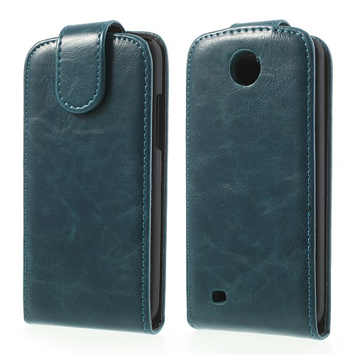 HTC Desire 300 Modisches Crazy Horse Leder Case - blau