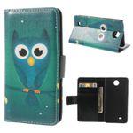 HTC Desire 300 Leder Case mit süsser Eule