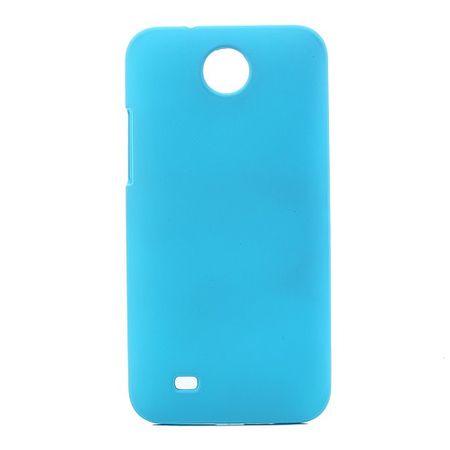 HTC Desire 300 Gummiertes Hart Plastik Case - hellblau