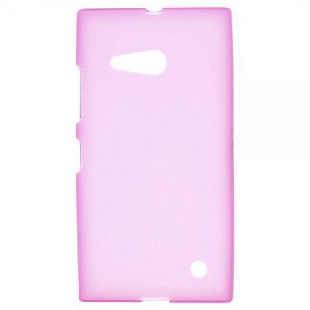 Nokia Lumia 730/730 Dual/735 Elastisches, mattes Plastik Case - rosa