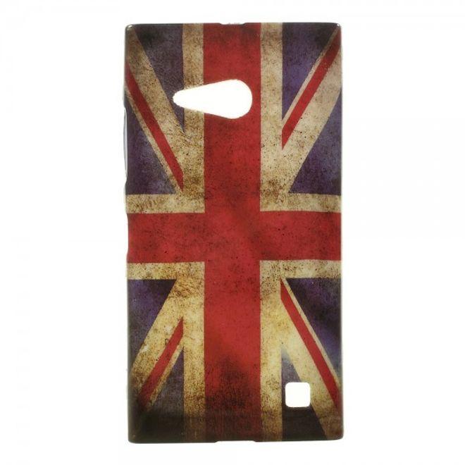 Nokia Lumia 730/730 Dual/735 Elastisches Plastik Case mit UK Flagge retro-style