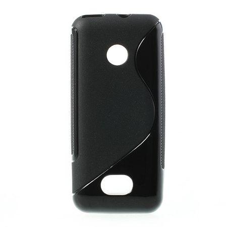 Nokia 208 Elastisches Plastik Case S-Curve - schwarz
