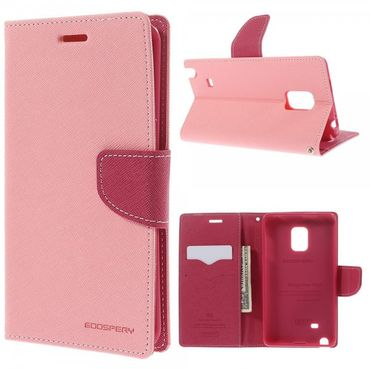 Samsung Galaxy Note Edge Mercury Leder Case mit Standfunktion - pink