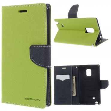 Samsung Galaxy Note Edge Mercury Leder Case mit Standfunktion - grün