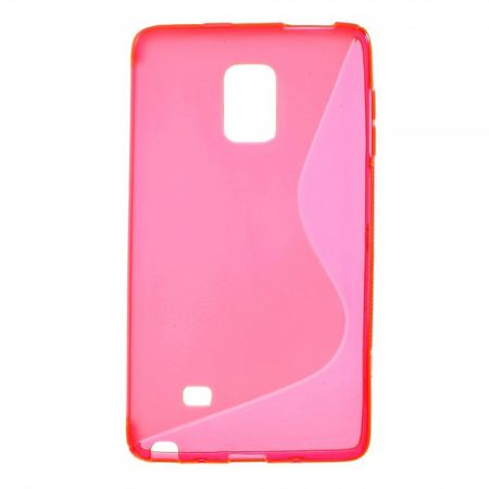 Samsung Galaxy Note Edge Elastisches Plastik Case S-Shape - rosa