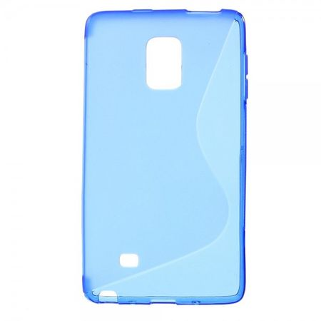 Samsung Galaxy Note Edge Elastisches Plastik Case S-Shape - blau