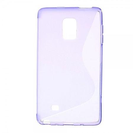 Samsung Galaxy Note Edge Elastisches Plastik Case S-Shape - purpur