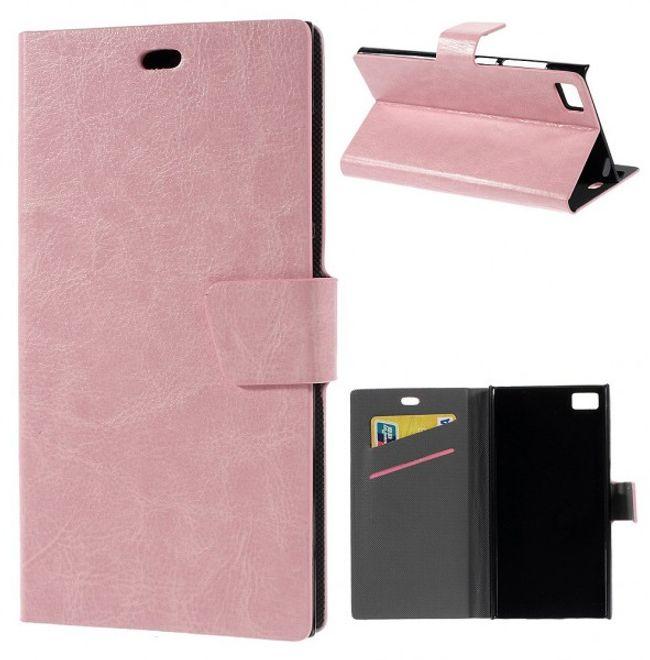 Xiaomi Mi3 Crazy Horse Leder Case mit Standfunktion - pink