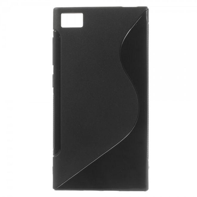 MU Classic Xiaomi Mi3 Elastisches Plastik Case S-Line - schwarz