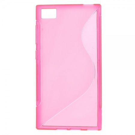 Xiaomi Mi3 Elastisches Plastik Case S-Line - rosa