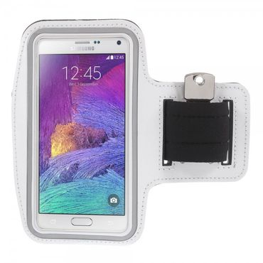Samsung Galaxy Note 4 Sport Armband Case - weiss