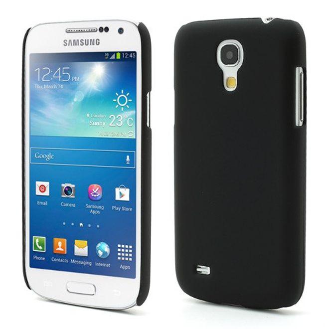 MU Classic Samsung Galaxy S4 Mini Gummiertes Hart Plastik Case - schwarz
