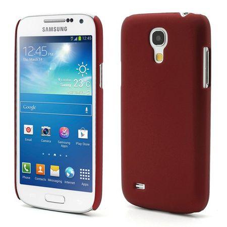 Samsung Galaxy S4 Mini Gummiertes Hart Plastik Case - rot