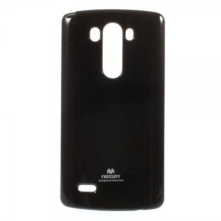 LG G3 Glitzerndes, elastisches Mercury Plastik Case - schwarz