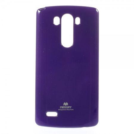 LG G3 Glitzerndes, elastisches Mercury Plastik Case - purpur