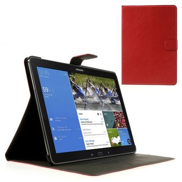 Samsung Galaxy Note Pro/Tab Pro 12.2 (P900/T900) Magnetisches Crazy Horse Leder Case - rot