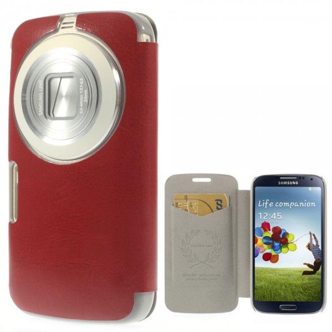 MU Classic Samsung Galaxy S5 Zoom Crazy Horse Leder Case - rot