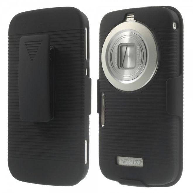 Samsung Galaxy S5 Zoom Hart Plastik Case mit Gurthalterung - schwarz