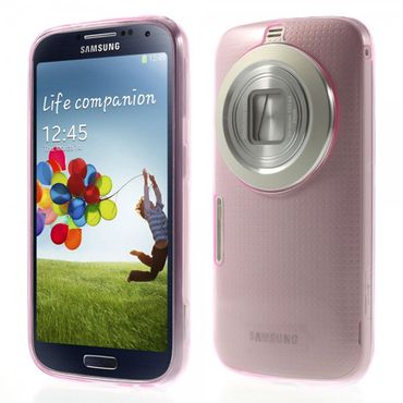 Samsung Galaxy S5 Zoom Ultradünnes, flexibles Plastik Case - rosa