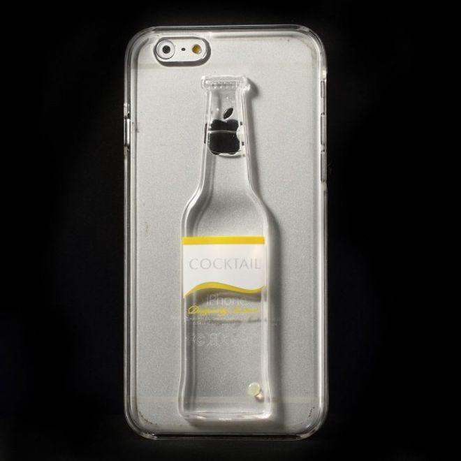 iPhone 6/6S Hart Plastik Case mit Flüssigkeit in einer Flasche - transparent