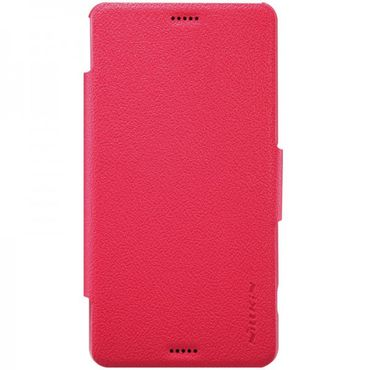 Sony Xperia Z3 Compact NILLKIN Fresh Series Magnetisches Leder Flip Case - rot