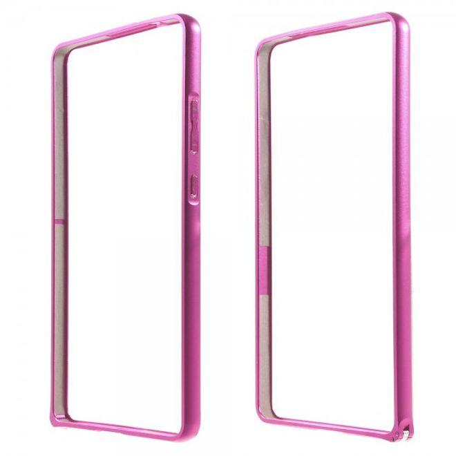Huawei Ascend Mate7 Stabiler Metall Bumper - rosa