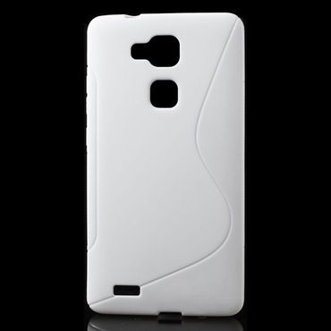 Huawei Ascend Mate7 Elastisches Plastik Case S-Line - weiss