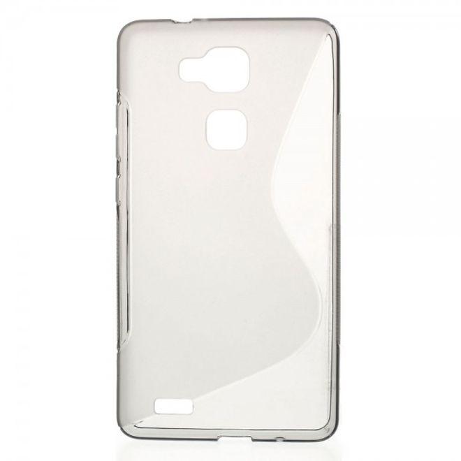 MU Classic Huawei Ascend Mate7 Elastisches Plastik Case S-Line - grau