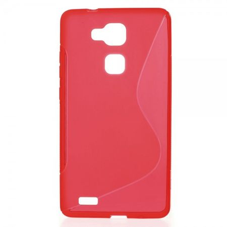 Huawei Ascend Mate7 Elastisches Plastik Case S-Line - rot