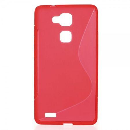 Huawei Ascend Mate7 Elastisches Plastik Case S-Line - rot