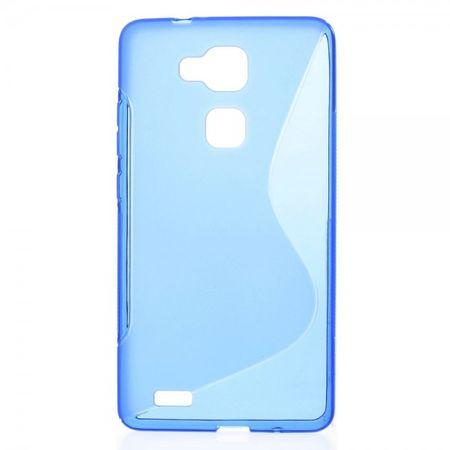Huawei Ascend Mate7 Elastisches Plastik Case S-Line - blau