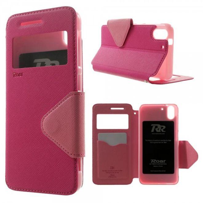 Roar HTC Desire Eye ROAR KOREA Modisches Leder Case mit kleiner Öffnung - rosa
