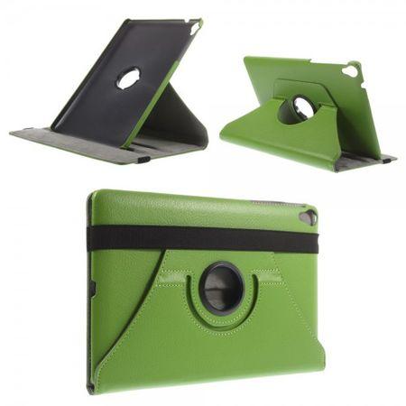 HTC Google Nexus 9 Rotierbares Leder Case mit Litchimuster und Standfunktion - grün