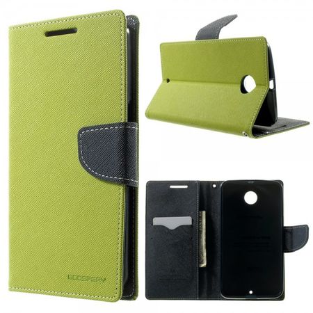 Mercury Goospery - Motorola Nexus 6 Hülle - Handy Bookcover - Fancy Diary Series - lime/navy