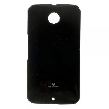 Mercury Goospery - Motorola Nexus 6 Handy Hülle - Case aus elastischem Plastik - Pearl Jelly Series - schwarz