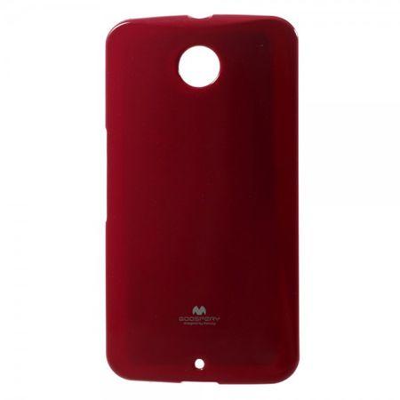 Motorola Nexus 6 Glitzerndes, elastisches Mercury Plastik Case - rot